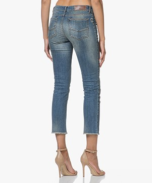 Zadig & Voltaire Ava Skinny Cropped Jeans - Blue