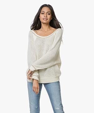 Ba&sh Hera Lattice Sweater - Ecru
