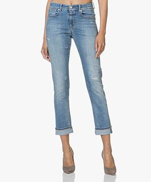 Closed Britney Cropped Jeans - Blue Repaired
