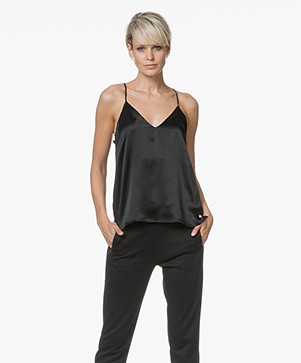 ANINE BING Gwyneth Slim Camisole in Zijde - Black