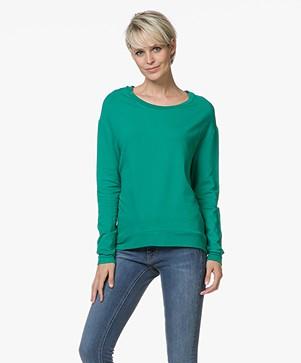 Majestic Filatures Laurie Sweater in Fleece Jersey - Groen