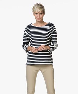 Petit Bateau Striped Sweater Tutsi - Smoking/Coquille