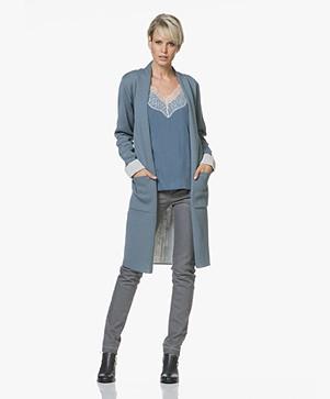 Sibin/Linnebjerg Marika Lang Two-Tone Vest - Blue Mirage/Lichtgrijs Mêlee
