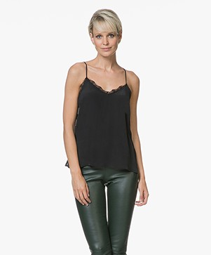 Anine Bing Silk Camisole - Zwart