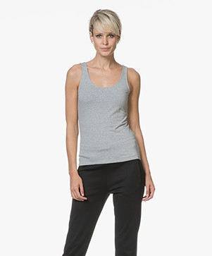 Filippa K Cotton Stretch Tanktop - Grijs Mêlee
