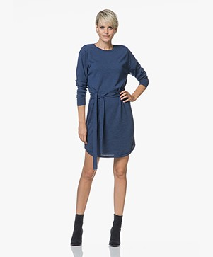 Sibin/Linnebjerg Juliette Sweater Dress with Optional Turtleneck Collar - Clear blue