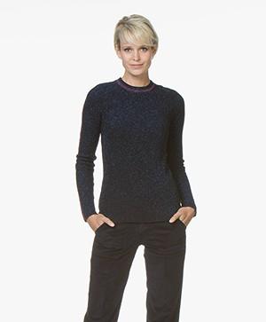 ba&sh Dipsy Lurex Pullover - Zwart/Blauw