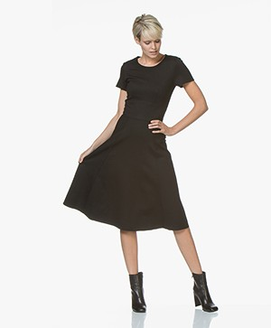 ba&sh Maisy Fit & Flare Dress - Black