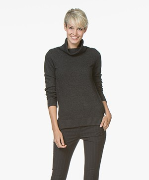 Belluna Robin Fine Knit Sweater with Cashmere - Anthracite