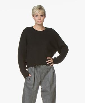 IRO Webro Wollen Sweater - Zwart