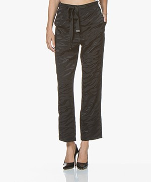 Zadig & Voltaire Pop Jac Tigre Silk Pants - Black