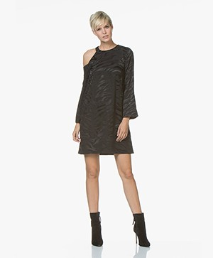 Zadig & Voltaire Richa Jac Tigre Silk Dress - Black