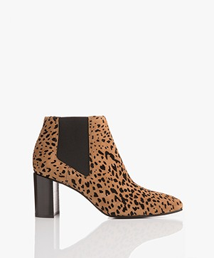 Rag & Bone Aslen Suède Enkellaarzen - Tan Cheetah
