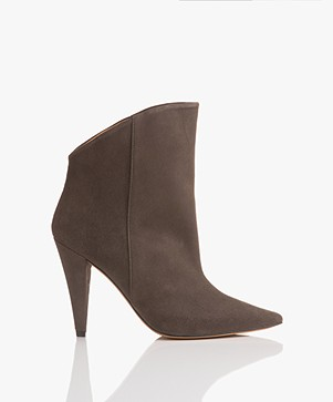 IRO Amy Suede Leather Ankle Boots - Clay