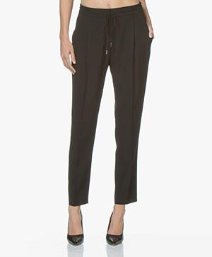 HUGO Hilipa Drawstring Pantalon - Zwart
