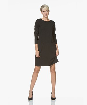 no man's land Punto di Milano Jersey Dress - Core Black