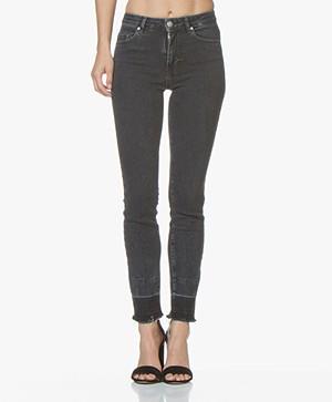 BOSS J11 Murietta High-rise Skinny Jeans - Donkergrijs