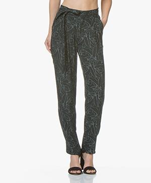 Marie Sixtine Cindy Printed Pants - Lines D