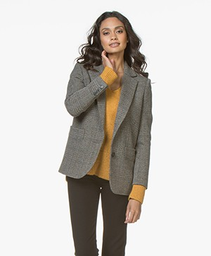 ba&sh Leto Herringbone Tweed Blazer - Marron