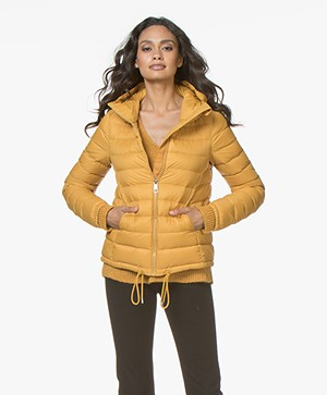 BOSS Ofave Quilted Down Jacket - Gold