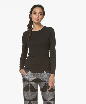 Filippa K Cotton Stretch Long Sleeve - Black