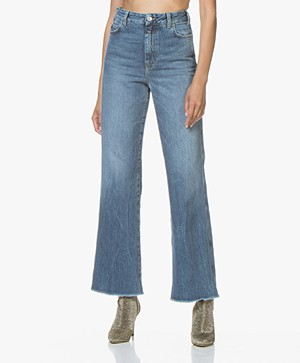 Closed Kathy Candiani Denim Flared Jeans - Mid Blue