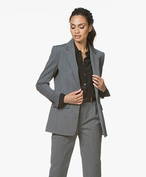 Drykorn Atlin Wool Blend Blazer - Dark Grey