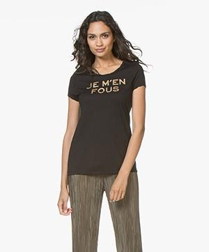 Zadig & Voltaire Titan Je M'en Fous T-shirt - Zwart