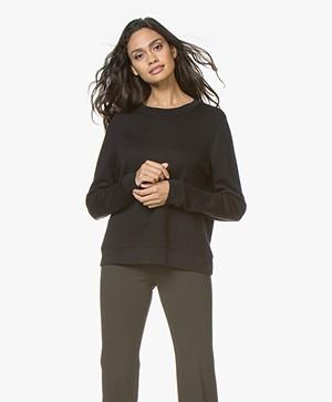 Drykorn Mairina Sweatshirt met Striksluiting - Zwart