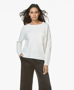 Drykorn Nola Cashmere Mix Trui - Off-white