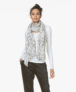 Belluna Plum Modal Print Sjaal - Corda