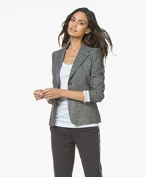 Drykorn Boulder Tweed Blazer - Anthracite