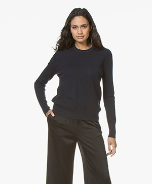 Filippa K Cashmere R-neck Sweater - Dark Navy