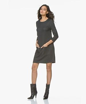 indi & cold Ponte Milano Jersey Dress - Marengo