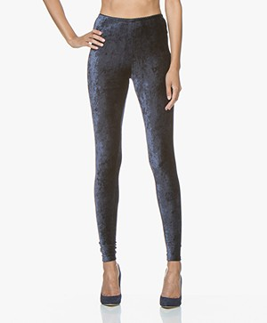 no man's land Velours Legging - Dark Sapphire