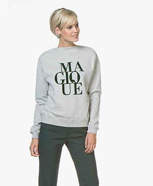 BY-BAR Jikke Magique Print Sweater - Grijs Mêlee