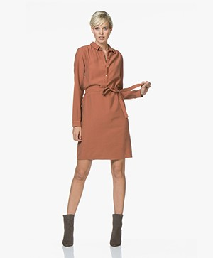 BY-BAR Sophie Osmo Shirt Dress - Cognac