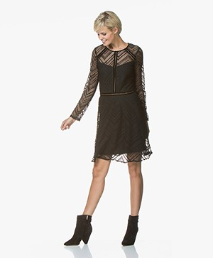 La Petite Française Rejouie Lace Dress - Zig-Zag