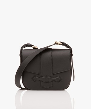 Vanessa Bruno Gemma Leren Flap Bag - Zwart