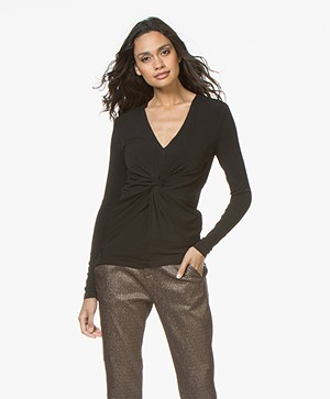 By Malene Birger Sulana Crepe Jersey T-shirt - Black
