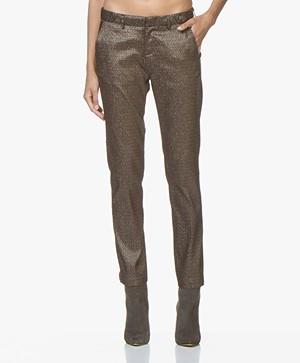 MKT Studio Panitou Stretchy Lurex Pantalon - Copper