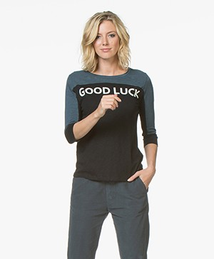 ba&sh Vook Good Luck T-shirt - Zwart