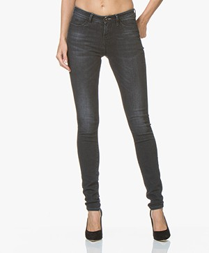 Denham Spray Super Skinny Fit Jeans - Gewassen Zwart