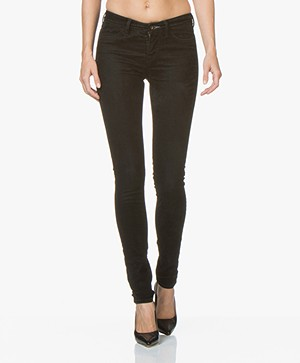 Denham Spray Super Tight Velours Jeans - Zwart