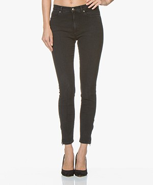 HUGO Gerna Skinny Jeans with Zipper Details - Dark Grey