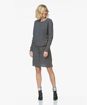 Sibin/Linnebjerg Elinor Moss Knit Merino Wool Blend Dress - Light Anthracite