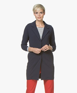 Josephine & Co Judita Lange Crêpe Jersey Blazer - Navy