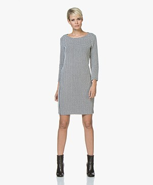 Josephine & Co Jannis Jacquard Dress - Print Navy