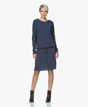 Sibin/Linnebjerg Elinor Moss Knit Merino Wool Blend Dress - Navy