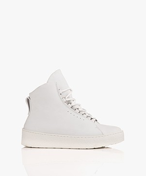 Filippa K Anna Winter Laced Booties - Wit Nubuck